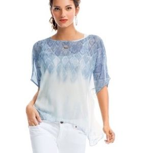 CAbi #781 Fade Out Sheer Boxy Top